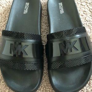 Michael Kors Black Slides NWNT